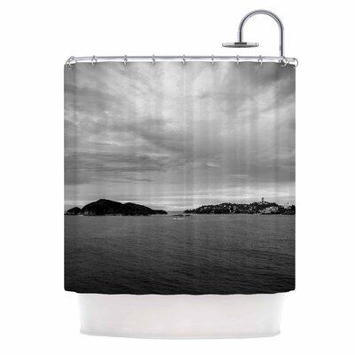 'Deep Cloudy Ocean' Photography Shower Curtain