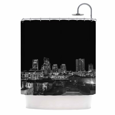 'Cityscape Nights' Photography Shower Curtain
