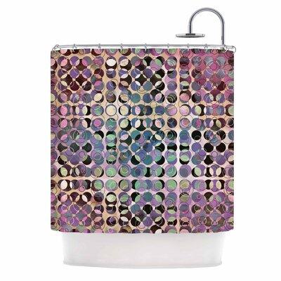 'Melange of Circles III' Shower Curtain