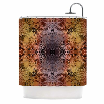 'Floral Fall Pattern' Shower Curtain