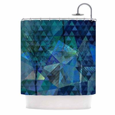 'Triangles Blue Melange' Shower Curtain