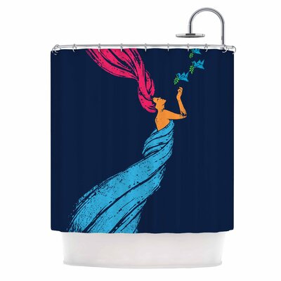 'Welcomes Peace' Illustration Shower Curtain