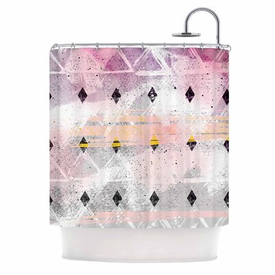 'Abstract Geometry and Painting' Painting Shower Curtain
