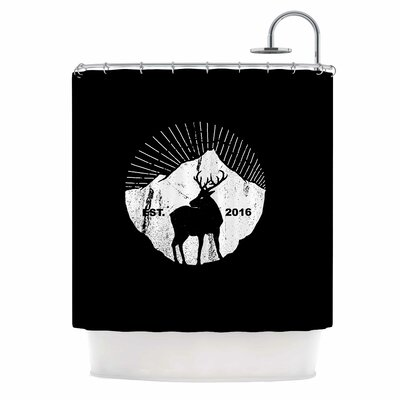 'American Mountain Deer' Digital Shower Curtain