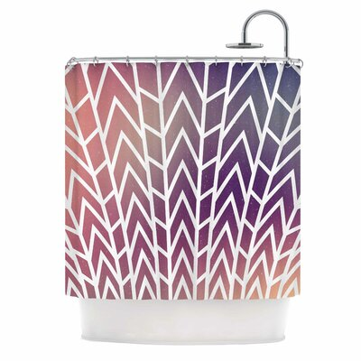 'Shattering' Shower Curtain Color: Sunset Purple