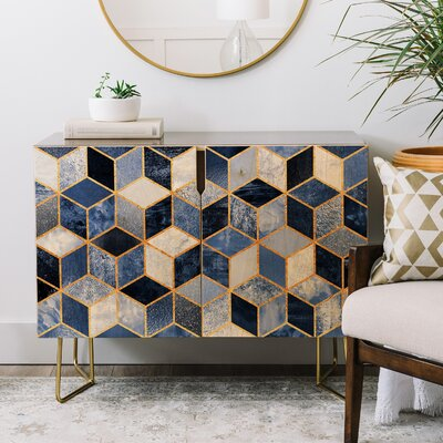 2 Door Accent Cabinet Color: Gold