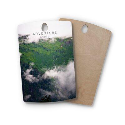 Ann Barnes Birchwood Adventure Is Waiting Mountain Cutting Board Shape: Rectangle