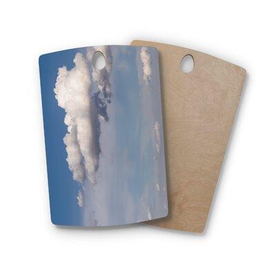 Ann Barnes Birchwood Big Sky Clouds Cutting Board Shape: Rectangle