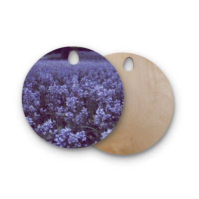 Ann Barnes Birchwood Bell Forest Flowers Cutting Board Shape: Round