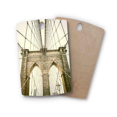 Ann Barnes Birchwood Brooklyn Bridge Sunset Photography Cutting Board Shape: Rectangle