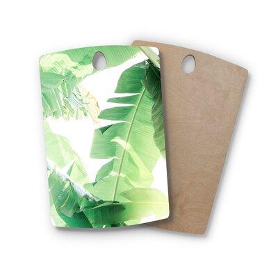 Ann Barnes Birchwood Banana Leaf I Cutting Board Shape: Rectangle