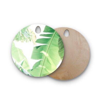 Ann Barnes Birchwood Banana Leaf I Cutting Board Shape: Round