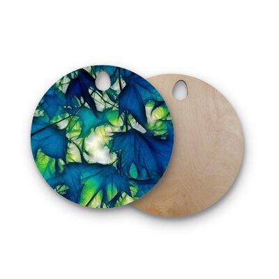 Alison Coxon Birchwood Leaves Cutting Board Shape: Round