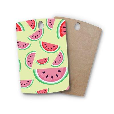 AFE Images Birchwood Watermelon Background Cutting Board Shape: Rectangle