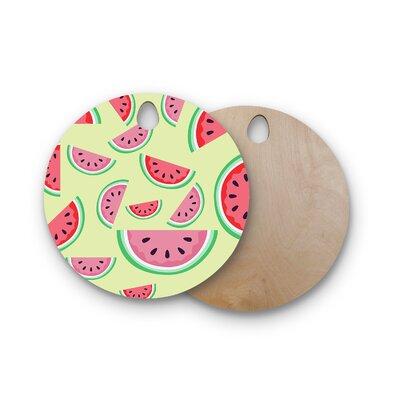 AFE Images Birchwood Watermelon Background Cutting Board Shape: Round