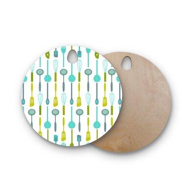 AFE Images Birchwood Kitchen Utensils Cutting Board Shape: Round