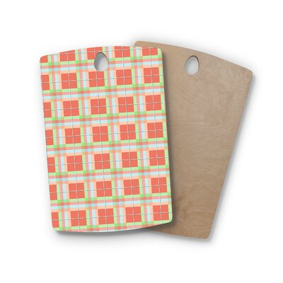 AFE Images Birchwood Summer Plad Pattern Cutting Board Shape: Rectangle