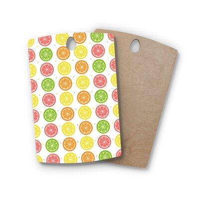 AFE Images Birchwood Citrus Pattern Illustration Cutting Board Shape: Rectangle