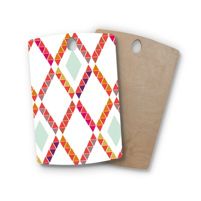 Pellerina Design Birchwood Aztec Diamonds Geometric Cutting Board Shape: Rectangle