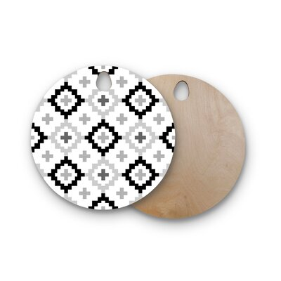 Pellerina Design Birchwood Moroccan Geometric Cutting Board Shape: Round