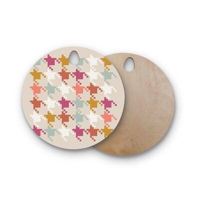 Pellerina Design Birchwood Houndstooth Panel Digital Cutting Board Shape: Round