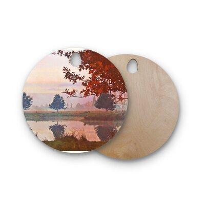 Pellerina Design Birchwood Magic Morning Cutting Board Shape: Round
