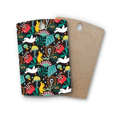 Agnes Schugardt Birchwood Folk Fusion Rainbow Abstract Cutting Board Shape: Rectangle