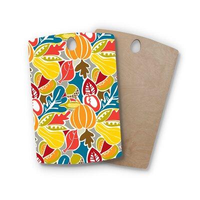Agnes Schugardt Birchwood Fall Harvest Food Cutting Board Shape: Rectangle