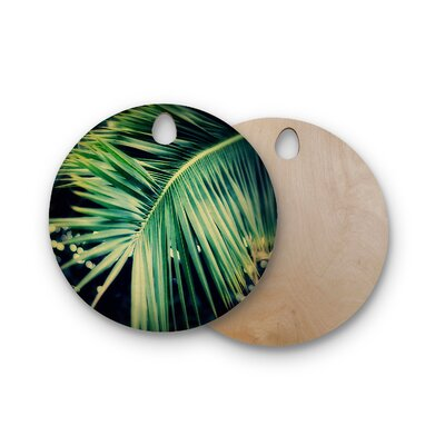 Angie Turner Birchwood Palm Frond Cutting Board Shape: Round