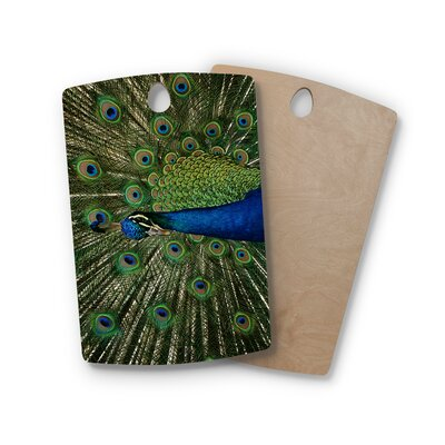 Angie Turner Birchwood Proud Peacock Cutting Board Shape: Rectangle