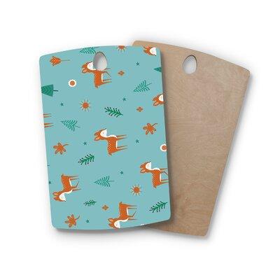 Cristina Bianco Design Birchwood Design Cute Deer Pattern Cutting Board Shape: Rectangle