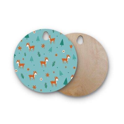 Cristina Bianco Design Birchwood Design Cute Deer Pattern Cutting Board Shape: Round