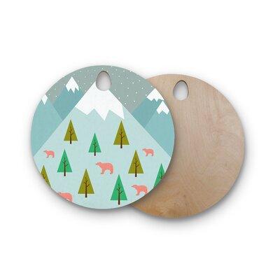 Cristina Bianco Design Birchwood Design Bears Illustration Cutting Board Shape: Round