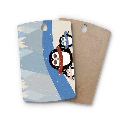 Cristina Bianco Design Birchwood Design Cute Penguins Cutting Board Shape: Rectangle