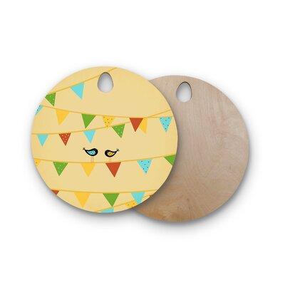 Cristina Bianco Design Birchwood Design Birds Cutting Board Shape: Round