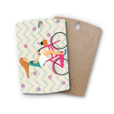 Cristina Bianco Design Birchwood Design Bicycle Ride Cutting Board Shape: Rectangle