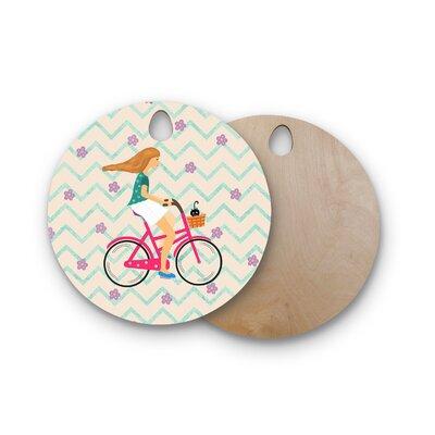 Cristina Bianco Design Birchwood Design Bicycle Ride Cutting Board Shape: Round