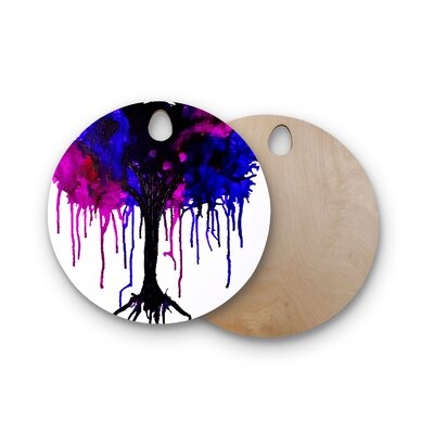 Claire Day Birchwood Weeping Willow Cutting Board Shape: Round