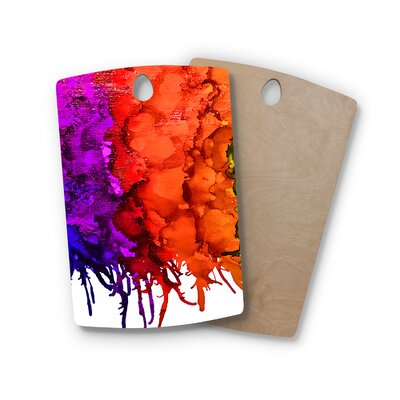 Claire Day Birchwood Rainbow Splatter Cutting Board Shape: Rectangle