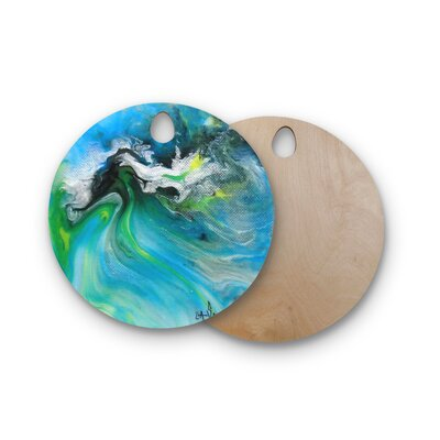 Carol Schiff Birchwood and Abstract Cutting Board Shape: Round
