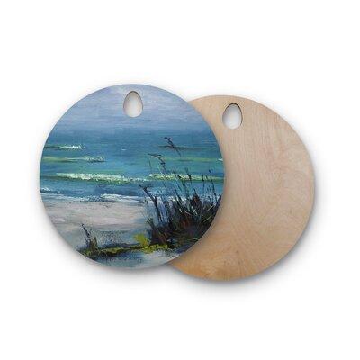 Carol Schiff Birchwood Sanibel Painting Cutting Board Shape: Round