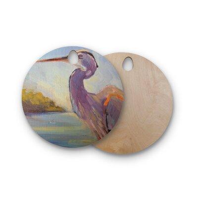 Carol Schiff Birchwood Tropical Sentry Lavender Animals Cutting Board Shape: Round