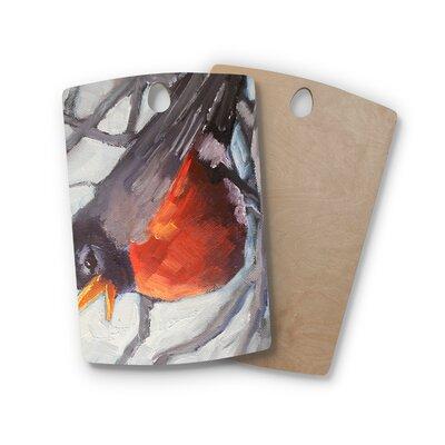 Carol Schiff Birchwood Winter Robin Cutting Board Shape: Rectangle