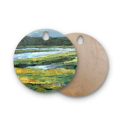 Carol Schiff Birchwood Southern Marsh Cutting Board Shape: Round