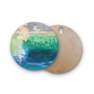 Carol Schiff Birchwood Sea Music Painting Cutting Board Shape: Round