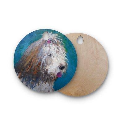 Carol Schiff Birchwood Shaggy Dog Story Animals Cutting Board Shape: Round