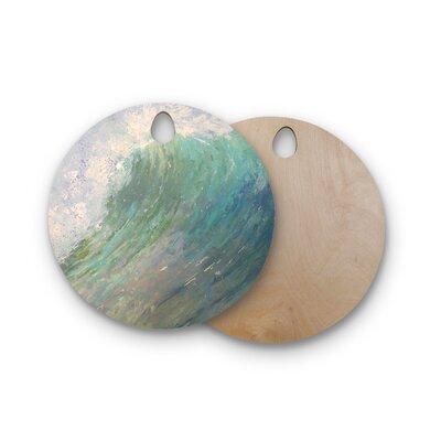Carol Schiff Birchwood Wall of Water Painting Cutting Board Shape: Round