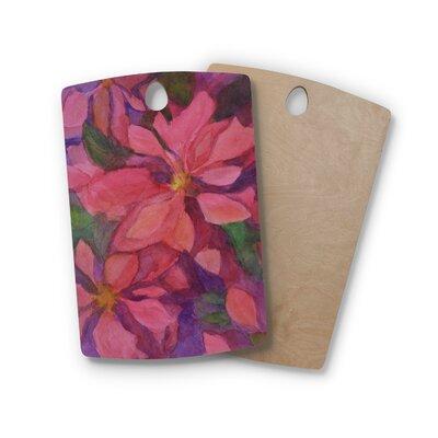 Cyndi Steen Birchwood Cool Poinsettias Cutting Board Shape: Rectangle