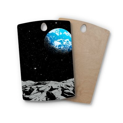 Digital Carbine Birchwood from the Moon Geological Cutting Board Shape: Rectangle