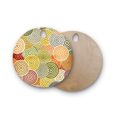 Danny Ivan Birchwood Matias Girl Cutting Board Shape: Round
